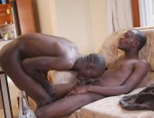 Mike and Bernard are the only hot gay African twinks in their village. They have been drinking beer and had a refreshing shower. Bernard is turned on by the sight of Mikes twink torso. He starts to kiss his friend, and his hand goes under Mikes towel. He starts to stroke the huge black cock that lies under there. Mike is horny and wants to taste Bernards cock. He strokes and sucks his friends monster black meat. All the beer makes the lads need to piss, and they take it in turns to cover each ot