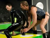 Hot dude establishes his dominance in this puppy role play