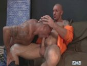 Bad boy Francesco DMacho is putting in his community service time when he finds himself tempted by a mysterious stranger:  David Dirdam.  The guys head to an abandoned room for a quick suck and fuck where Francesco completely dominates Davids horny hole!