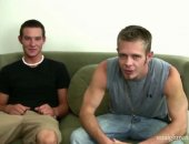 Nick and Eli are back this week at Straight Rent Boys. I began the video by reminding them that last week we talked about doing anal. They kinda laughed that one off. I asked Nick if he picked up any more boys in the bathroom and he said he made another $900 or so. (Sometimes I think I am in the wrong business.) So we finally get down to business and discuss how much this anal scene is going to cost. Last week they each got $700 for oral sex. These guys are some tough negotiators. We finally agr