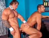 Marcus coaxes huge stripper Zeb off-stage for a 1-on-1 dance