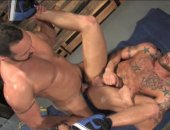 Heres a scorcher that puts the creamy white stuff right where you want it In Yer Face! This supercharged, shooter of a movie delivers big dicked fuckers in butt bruising action that ends with overwhelming jizz blasts you know where. Raging Stallion Exclusive Tom Wolfe throws it into fat cocked newcomer Ayden Marx. Derek Parker gets double duty in an opener with hunky Fabio Stallone, and an encore with Charlie Harding. Its their first scene together, and they toss it up ferociously. Topping it al