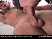 What better birthday gift to receive than Pornstar Manuel Deboxers huge cock to suck at will !!!