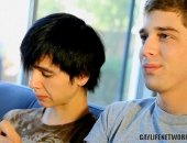 Levon Meeks and Aidan Rayne enjoy watching gay porn movies to compare themselves to pornstars. As they are watching this porno Levon feels challenged when he discover a new position. Aidan sexy emo looks stimulate Levon to prove hes way better than pornstars.