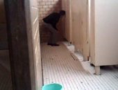 creeper watching someone in a stall