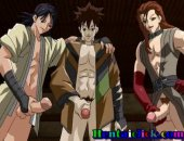 Tied up anime gay twink getting his virgin asshole fucked and cummed by some perverts