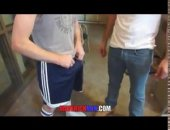hung dude strips his boy down to his jocks and pounds his hole raw