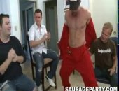 The sausage party crew make another appearance at a big gay houseparty. This one got really out of control. Ive never seen so much whip cream. And for the first time I believe in sausage party history one of the dancers takes a guy into a private area to fuck!