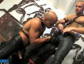 Hot leather man action.