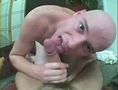 This bald dude gives a great BJ