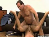 This hot and horny Dad has his dream come true when his hot twink neighbor comes over horny as fuck.