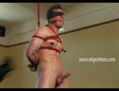 Bondage noob bound in ropes and masturbated by expert master who teaches oriental lessons to the horny hard gay man standing in front of him