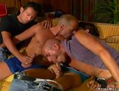 This group of hot hunks enjoy swapping oral sex and taking turns fucking ass.