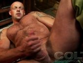 Bald stud decides that jerking off would be a great idea!