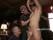 Boy gets blindfolded and sucked getting prepared for a nasty gay orgy with mighty nasty men who unravel their dark side spanking him and making him suffer