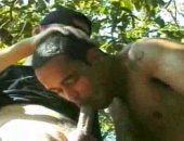 Check out these hot studs as they climb a tree. In the tree, they exchange oral sex.