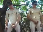Cute Men Enjoys Playing With Their Cocks Outdoors