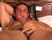 He enjoys tugging his cock on his own & with some help.
