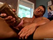 Cody spreads his legs and strokes his stallions fat meat!