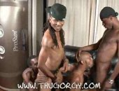Horny Black Thugs in Awesome Foursome Action.