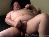 A big daddy bear jerks his big dick