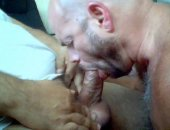 Sucking a thick veiny dick