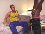 Little whiny white thug takes a thick black cock