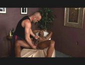 Hot black jock goes and gets an expert sex massage