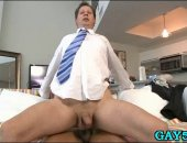 Wall Streeter gets his mouth and ass pried open by BBC