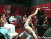 Group of gays blow a hot male stripper