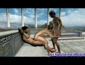 Gay sex in a greek temple where ancient homosexual sacrifices occurred.