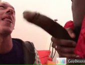 He blows the fuck out of this big black meat and then rides it.