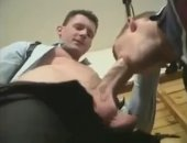Young guy tries his hand at a pro stud in this hard sex video.