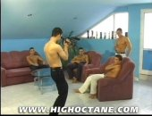This orgy of muscle boys arent just content to fuck each other, they want to film each other doing it too. Get up close and personal to all the action in this mix of steady and handheld camera action in a gangbang youre really going to feel part of