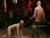Check this guy as he gets completely dominated by a room of gay hunks.