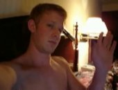 Horny and hung fratboy jerking his meat on his webcam