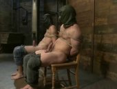 Horny gays tied in chairs learn slavery in bondage total sex getting spanked and humiliated