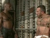 Adult sexy athletic gay with firm body gets spanked and abused in interracial bondage fucking and spanking