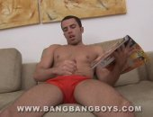 Ricardo gets hard looking at a dirty magazine before he begins to jerk off. Then he whips a toy out and plays with his hot ass for the camera. Dont miss this kinky solo video.