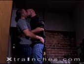 Dirk Jager and Remy Delaine tear each other apart in this video. Dirk is the aggressor but also gets down on his knees for some nice cock sucking action. The two take turns giving and receiving head in the dark and mechanical elevator room. When they move back into the hall Remy offers his ass up like the pig bottom he is.