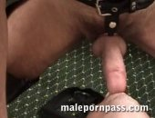 These hairy leather daddies feed each other with their thick fat dicks. Then, Riley is on the sling getting plowed by Max and Logan s wide cocks. Get full scenes at www.malepornpass.co