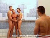Hot sexy muscle men orgy with hot sexy muscled men
