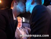 Lovers of cum eating will flip over a particular hot moment during that three-way: one groomsman shoots off into his blond buddy s open palm, and the guys enthusiastically share the love juice before sucking that sticky cock clean.