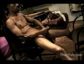 Horny and wild Black guy wanking his big shaft