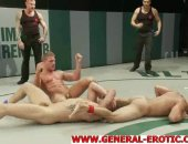 Four big dicked muscle studs have all proven their wrestling skills and now some other skills