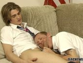 Tristan Vega sucks a mean dick in teasing slow motion and Adam Kensington is lucky enough to be on the receiving end. He sits back and enjoys, tensing up and trying his hardest not to cum. Tristan takes the lead and sits right on top of him. Hes eager to hop on his hardened dick, all wet and slimy from his own saliva.