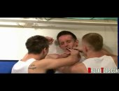 Horny twink abused by school mates in the bathroom