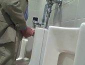 Hottest Professor wanking in restroom