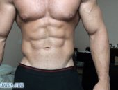 Alain lamas super sexy Latino hunk shows off his amazing muscles shows off his huge thick rock hard cock strokes it and bust a huge load all over his ripped abs
