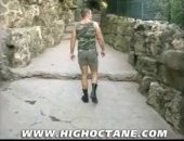 Atilla and Christophe meet on the sidewalk during a beautiful afternoon and immediately know what one another are after. They retire to a public toilet and the fun begins. Watch as the hot military muscle man takes apart his young friend, leaving an impression hell be feeling for weeks.